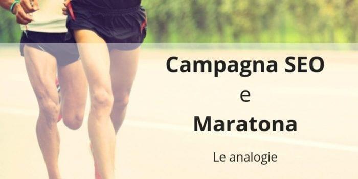 Analogie tra campagna SEO e maratona