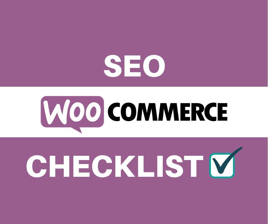 Seo woocommerce checklist