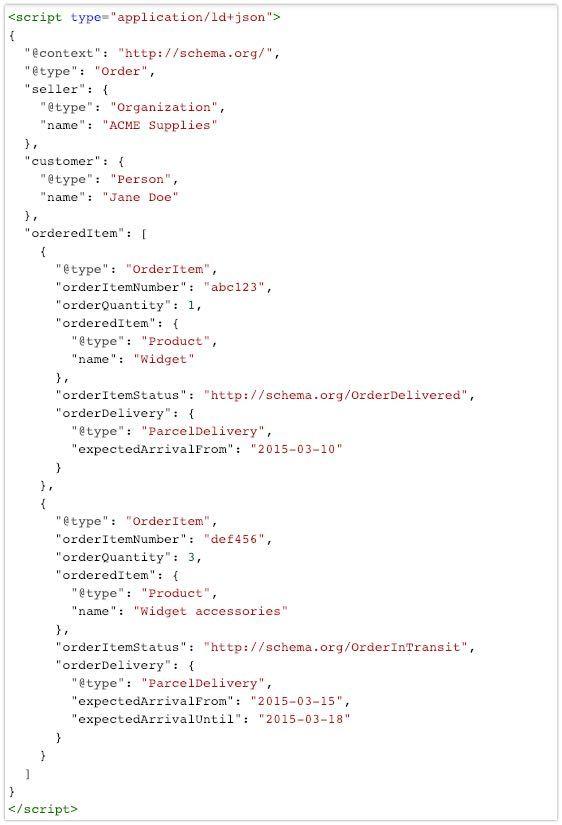 codice rich snippet